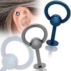 Piercing Body Ring Intimate Bar Stud Tragus Ear Universal Ball Stainless Steel