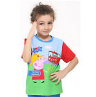 New Kids Boys Peppa Pig Short Sleeve T Shirt Toddlers Top Clothing  1 2 3 4 5 6Y