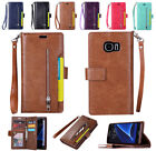 Wallet Flip Leather Magnetic Cover Stand zipper Case for Samsung Galaxy S7 Edge