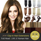 New Arrival 8 Pcs Double Weft Clip In Hair Extensions Long Full Head As Human LM