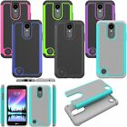 Beautiful Hybrid Slim Armor Duty Back Defender Protect Case Cover For LG K4 2017