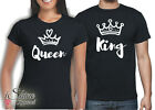 VALENTINES DAY SHIRT SET COUPLES HEART SOUL MATE 2 LOVE KING & QUEEN  T-SHIRT