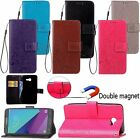Flip Leather Wallet Card Clover Case Cover For Samsung Galaxy J3 Emerge/ J3 2017