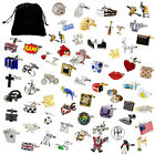 Novelty Quality Classic Sports Animal Cufflinks 183 Designs With A Velvet pouch
