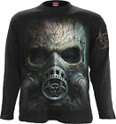 Spiral Direct BIO-SKULL Long Sleeve T Shirt/Gas Mask/Bio hazard/Tattoo/Rock/Top