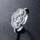 0.5 Carat Round CZ Silver Color Eternity Ring Bands New Women Jewelry