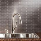 Aspect Peel and Stick Backsplash Subway Matted Metal Tile