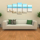 Blue Seaside Modern Beach Unframed Painting Canvas Wall Art Picture Home Decor