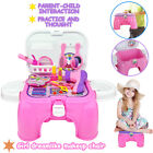 Girls Make Up Toy 2 In 1 Dresser Mini Dreamlike Makeup Chair Play House Toy