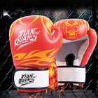 Leather Boxing Gloves Sparring Punch Bag Muay Thai kickboxing Training MMA KO