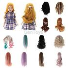 Assorted Styles Wig Hairpiece Curly/Straight Hair for 18 Inch Ameican Girl Doll