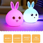 Rabbit LED Multicolor Silicone Touch Sensor Night Light For Children Baby Lamps