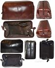Women/Man's Large Leather Grooming bag Cosmetic Make up case toiletry case New 1