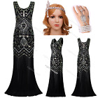 1920s Flapper Dress Gatsby Charleston Fringe Long Prom Wedding Party 20s Costume