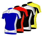 Mens Cycling Half Sleeve Jersey Breathable Lightweight Biking Tops
