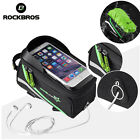 ROCKBROS Bicycle Top Tube Bag Waterproof Touch Screen Phone Bag With Rain Cover