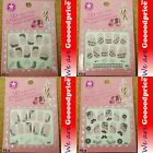 3D Lace Style White Black Design Jewelry Nail Art Stickers Party Gift Set 5-0104