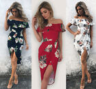 Fashion Women Summer Boho Floral Beach Dress Evening Cocktail Long Maxi Dresses