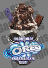 ICECREAM VAN STICKER OREO SAUCE BIT KGB SUNDAE CATERING SHOP WITH/WITHOUT FLAKE