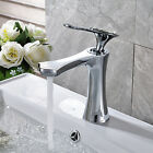 Bathroom Waterfall Basin Faucet Single Handle Vanity Sink Mixer Chrome Finish