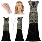 1920s Flapper Dress Gatsby Sequin Women's Party Fringe Outfit Costume 8 10 12 14