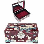 Antique Jewelry Box Mother Of Pearl Women Gift Item Jewelry Organizer L1006Red