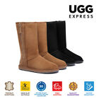 UGG Boots - Tall  Side Zip, Premium Australian Double Faced Sheepskin, Nonslip