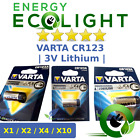 1/2/4/10 x VARTA CR123A 3V Lithium Photo Battery 123 CR123 DL123 CR17345 Camera