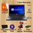 Ultra Fast Windows 10 Dell Latitude Laptop 4gb 80gb Wifi Free P&p With Colours