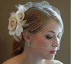 New Fascinator Vintage Flower Wedding Bridal Birdcage Face Cover Veil with Comb