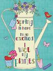 SPRING IS HERE I'M SO EXCITED I WET MY PLANTS GARDEN METAL WALL PLAQUE SIGN 888