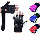 ISL Leather body combat GEL Gloves MMA Boxing Punch Bag Martial Arts Karate Mitt