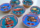 Disney Cars Lightening Mcqueen Birthday Edible Personalised Cupcake Toppers