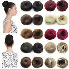 Women Drawstring Synthetic Hair Bun Straight Updo Cover Donut Chignon Hairpieces