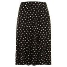 Evans swishy black/white polka dot skirt~Stretch waist~18 ~New