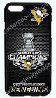 PITTSBURGH PENGUINS NHL CHAMPIONS PHONE CASE FOR iPHONE X 8 7 6S 6 PLUS 5C 5S 4S $14.97 USD on eBay