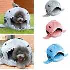 Soft Plush Shark Design Pet Bed Warm Cave House for Pet Dog Cat Kitten Puppy