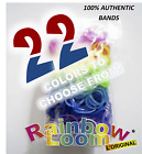 Authentic Rainbow Loom Bands - 600 bands + 24 Clips (22 Colors To Choose From)
