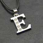 Personalized Unisex Stainless Steel Initial Large 26 A-Z Letter Pendant Necklace