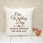 Personalised Cushion Cover - Present Gift - Wedding Our Wedding Day
