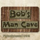 Man Cave Bar Custom Personalized Wood Look Metal Aluminum 8
