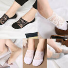 Women Girl Antiskid Invisible Liner Cotton Lace Flower Low Cut Ankle Socks
