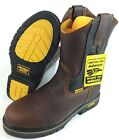MENS WORK BOOTS GENUINE LEATHER BROWN COLOR WESTERN COWBOY PULL ON BOOTS