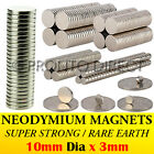 Neodymium Magnets (10mm Dia x 3mm) N35 Super Strong Disc Rare Earth Craft Disk