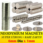 Neodymium Magnets (6mm Dia x 1mm) N35 Super Strong Disc Rare Earth Craft Disk