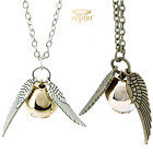 Golden Snitch Necklace Silver Bracelet Quidditch Harry POTTER Angel Wings Jewelr