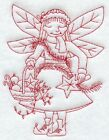 "9  x 12"" Embroidered Quilt Block - Pre Order -Christmas Fairies"