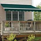 ALEKO Retractable Patio Awning 10 X 8 Ft Deck Sunshade Green Color