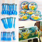 Pokemon Go Party Birthday Tableware Decor Supplies Tablecloth Plates Knive Gifts