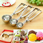 Внешний вид - 3 Size Summer Ice Cream Spoon Stainless Steel Handle Masher Cookie Scoop Tools